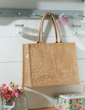 Shimmer Jute Shopper